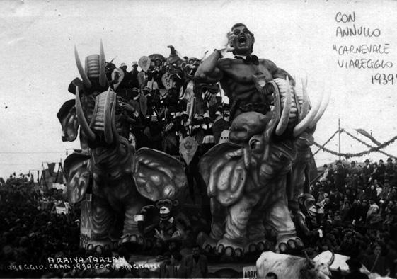 Arriva Tarzan di Carlo e Francesco Francesconi - Carri grandi - Carnevale di Viareggio 1939