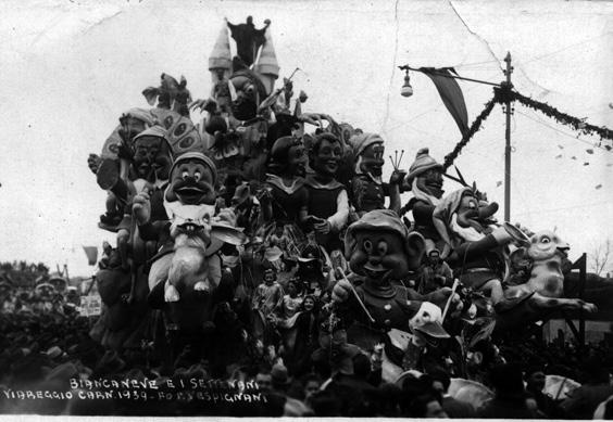 Biancaneve e i sette nani di Guido Lippi - Carri grandi - Carnevale di Viareggio 1939