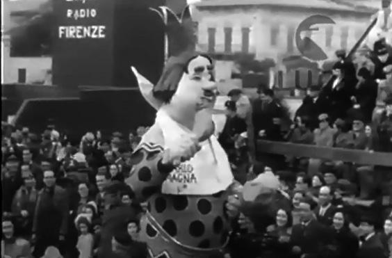 Carlo magna di Alfredo Morescalchi - Maschere Isolate - Carnevale di Viareggio 1939