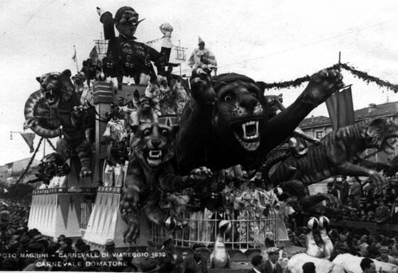 Carnevale domatore di Antonio D'Arliano - Carri grandi - Carnevale di Viareggio 1939