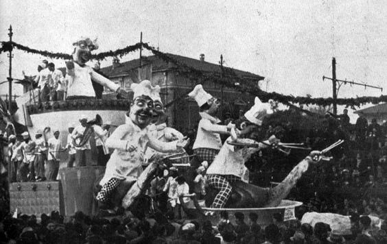 Corsa culinaria di Guido Baroni - Carri piccoli - Carnevale di Viareggio 1939