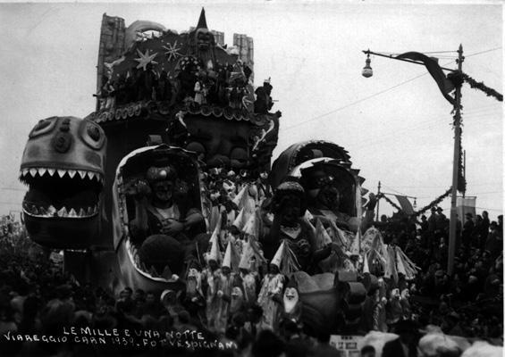Da le mille e una notte di Eugenio Pardini - Carri grandi - Carnevale di Viareggio 1939