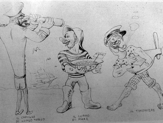 Gli allegri centenari di Antonio Francesconi - Mascherate di Gruppo - Carnevale di Viareggio 1939