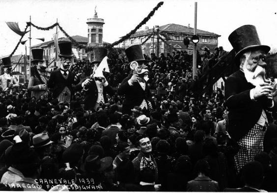 Il convegno delle persone serie di Alfredo Morescalchi - Mascherate di Gruppo - Carnevale di Viareggio 1939
