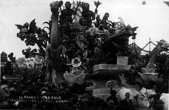 Il primo carnevale di Alfredo e Michele Pardini - Carri grandi - Carnevale di Viareggio 1939