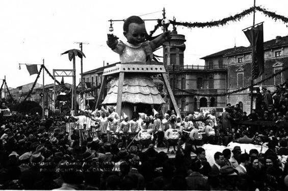 Il primogenito del carnevale di Orazio D'Arliano - Carri piccoli - Carnevale di Viareggio 1939