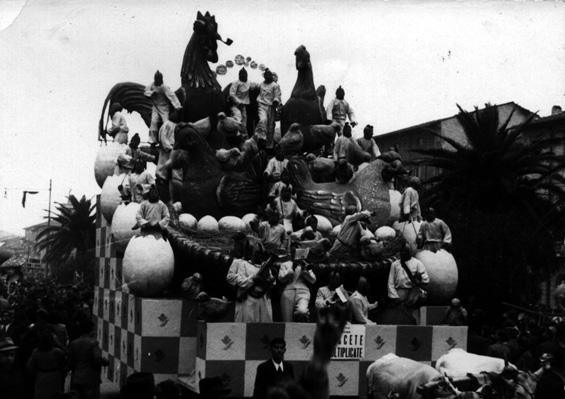 Crescete e moltiplicate di Alfredo e Michele Pardini - Carri piccoli - Carnevale di Viareggio 1940