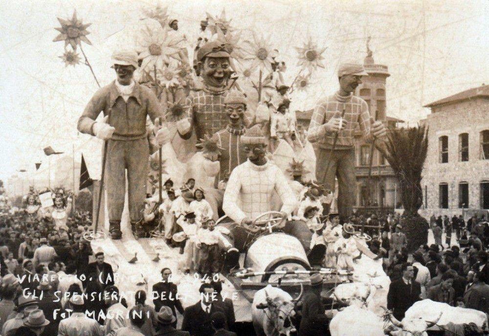 Gli spensierati della neve di Rolando Morescalchi - Carri grandi - Carnevale di Viareggio 1940