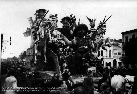 L'ultima avventura di Don Chiscotte di Alfredo e Michele Pardini - Carri grandi - Carnevale di Viareggio 1940
