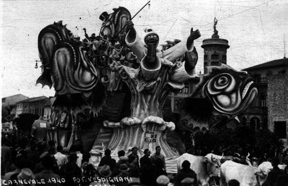 Oh che bella pesca di Carlo e Francesco Francesconi - Carri grandi - Carnevale di Viareggio 1940