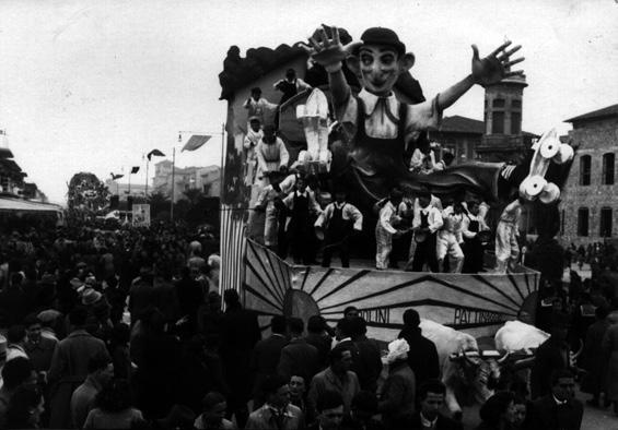 Ridolini pattinatore di Eugenio Pardini, Michelangelo Marcucci - Carri piccoli - Carnevale di Viareggio 1940