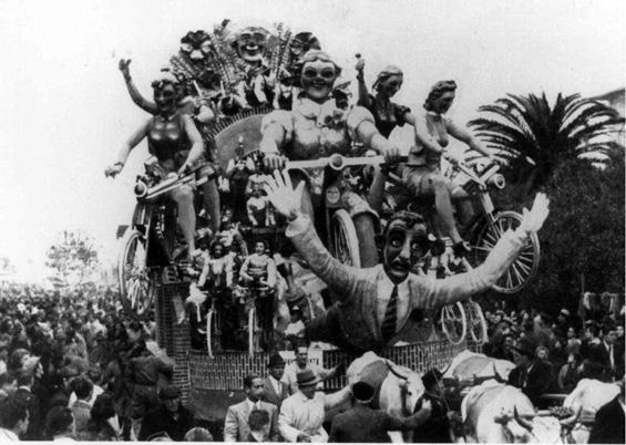 Scampagnata di sartine di Antonio D'Arliano - Carri grandi - Carnevale di Viareggio 1940