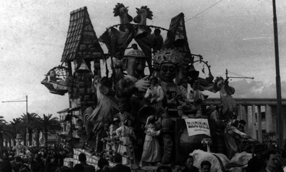 La scampagnata di Guido Lippi, Rolando Morescalchi e Danilo Di Prete - Carri grandi - Carnevale di Viareggio 1946