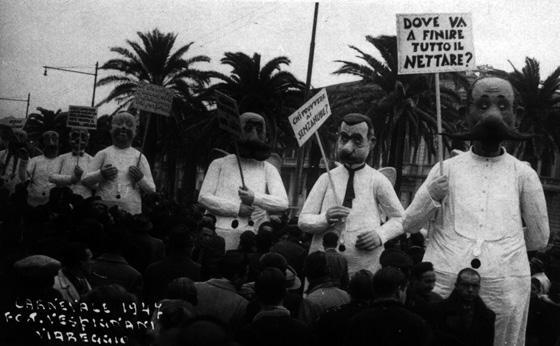 Anche lassù di Alfredo Morescalchi - Mascherate di Gruppo - Carnevale di Viareggio 1947