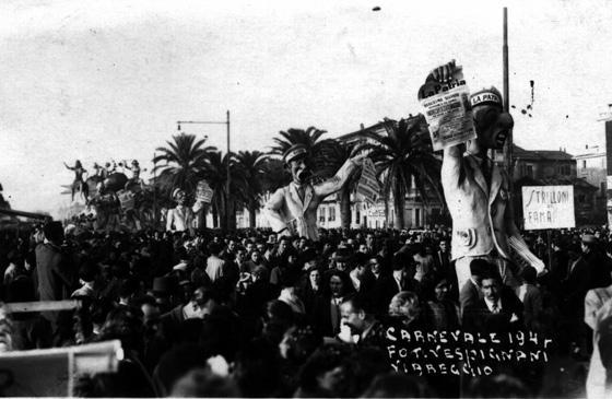Gli strilloni di fama di Carlo Francesconi - Mascherate di Gruppo - Carnevale di Viareggio 1947