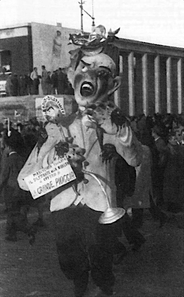 La grande pioggia di Arnaldo Galli - Maschere Isolate - Carnevale di Viareggio 1947