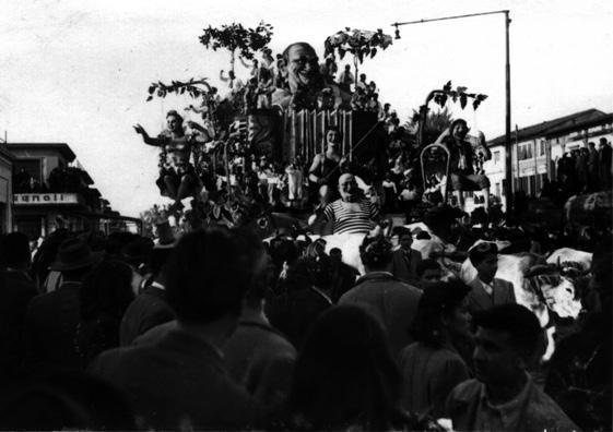 Le stagioni in maschera di Alfredo e Michele Pardini, Ademaro Musetti - Carri grandi - Carnevale di Viareggio 1947