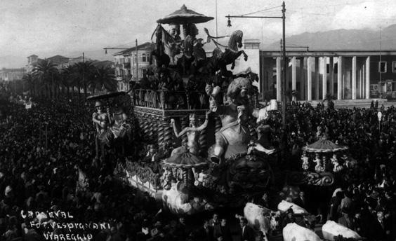 Nel tempio di Bacco di Antonio D'Arliano - Carri grandi - Carnevale di Viareggio 1947