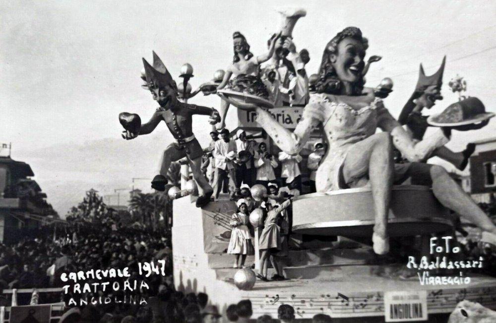 Trattoria Angiolina di Sergio Baroni - Carri piccoli - Carnevale di Viareggio 1947