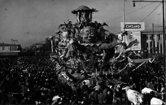 Cacciuccata carnevalesca di Sergio Baroni - Carri grandi - Carnevale di Viareggio 1948