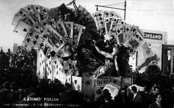 Casinò follie di Carlo Francesconi - Carri piccoli - Carnevale di Viareggio 1948