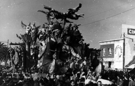 Due merli e un'allodola di Orazio D'Arliano - Carri piccoli - Carnevale di Viareggio 1948