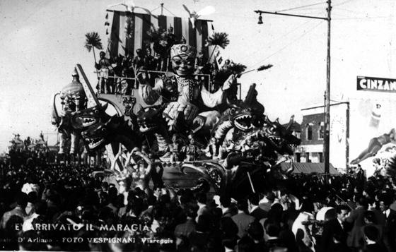 È arrivato il Maraja di Antonio D'Arliano - Carri grandi - Carnevale di Viareggio 1948
