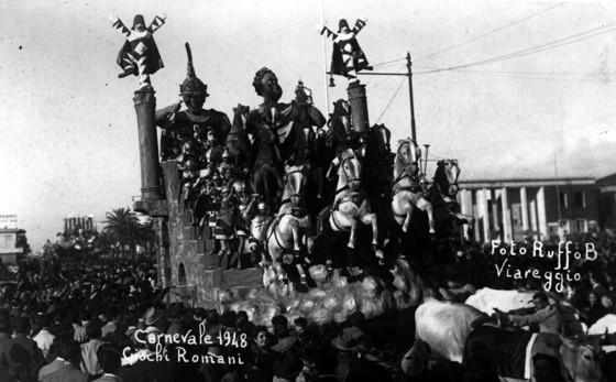 Giochi romani di Lino Tolomei - Carri grandi - Carnevale di Viareggio 1948