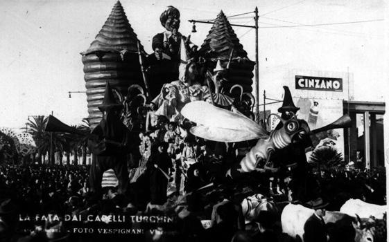 La fatina dai capelli turchini di Fabio Romani - Carri piccoli - Carnevale di Viareggio 1948