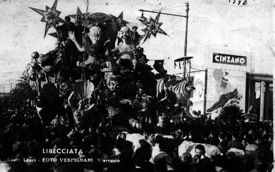 Libecciata di carnevale di Nilo Lenci - Carri piccoli - Carnevale di Viareggio 1948