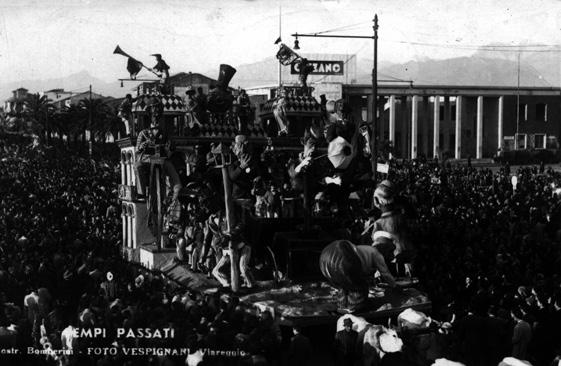 Tempi passati di Carlo Bomberini - Carri grandi - Carnevale di Viareggio 1948