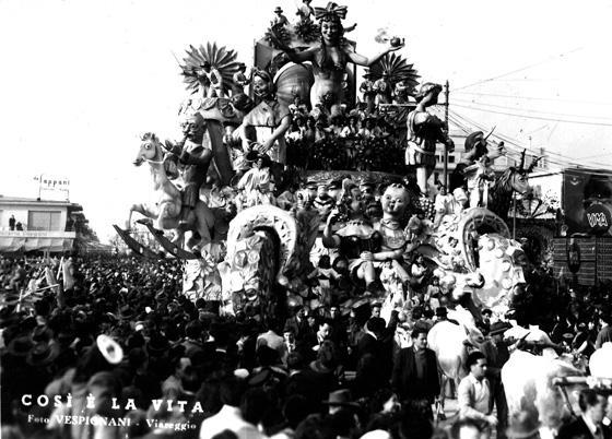 Così è la vita di Nilo Lenci, Fabio Romani e Oreste Lazzari - Carri grandi - Carnevale di Viareggio 1949