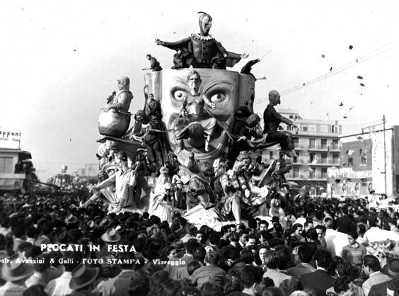 I peccati in festa di Arnaldo Galli e Silvano Avanzini - Carri grandi - Carnevale di Viareggio 1949