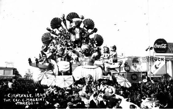 Ondate d'amore di Antonio D'Arliano - Carri grandi - Carnevale di Viareggio 1949