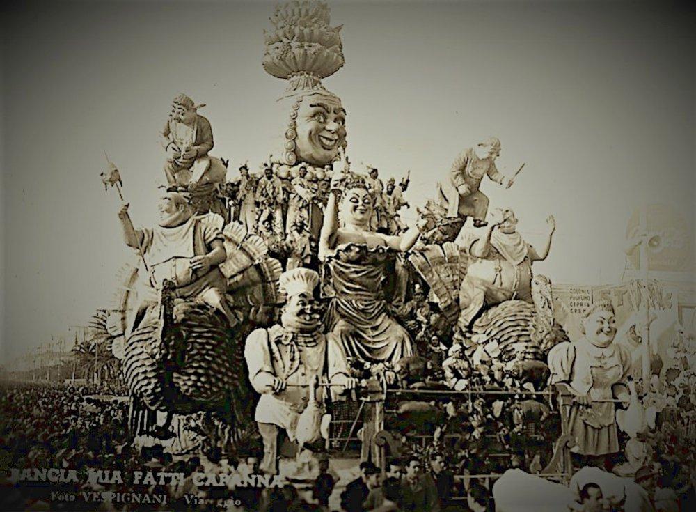 Pancia mia fatti capanna di Carlo Vannucci - Carri grandi - Carnevale di Viareggio 1949