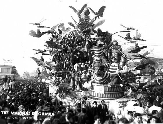 Tre marinai in gamba di Alfredo Pardini - Carri grandi - Carnevale di Viareggio 1949