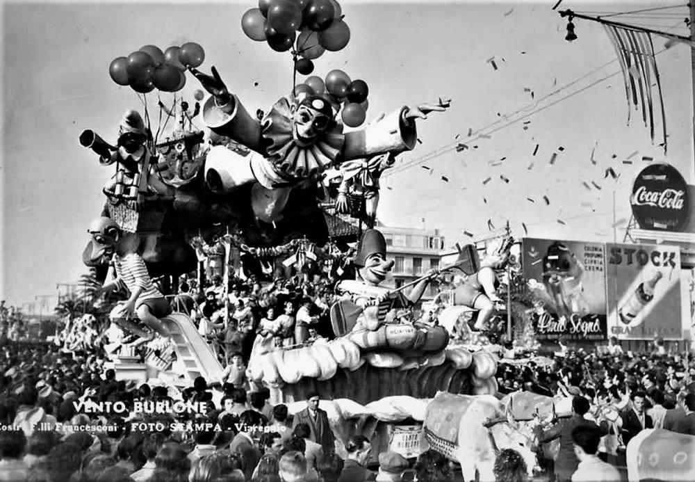 Vento burlone di Carlo e Francesco Francesconi - Carri grandi - Carnevale di Viareggio 1949