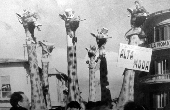 Alta moda di Valeriano Dini, Carlo Bomberini - Mascherate di Gruppo - Carnevale di Viareggio 1950