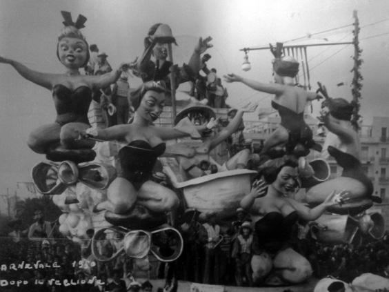 Dopo il veglione di Giuseppe Domenici, Giulio Palmerini - Carri piccoli - Carnevale di Viareggio 1950