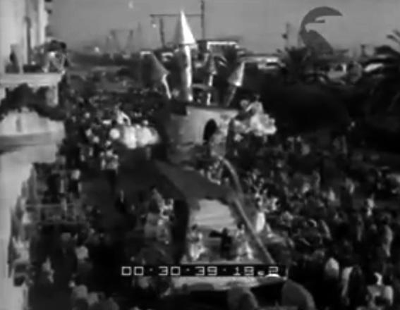 Il castello dei sogni di  - Carri Fioriti - Carnevale di Viareggio 1950