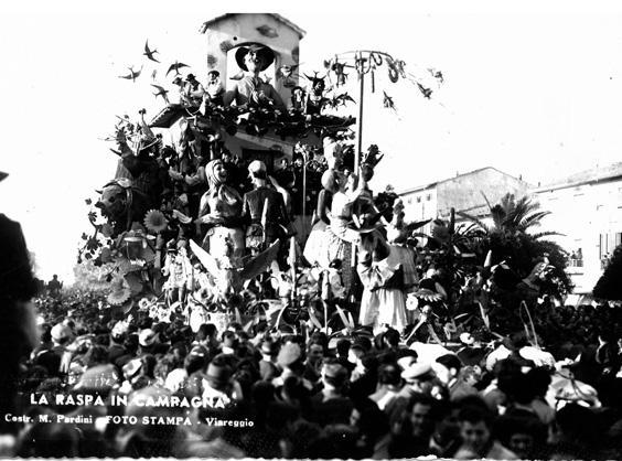 La raspa in campagna di Michele Pardini, Ademaro Musetti - Carri grandi - Carnevale di Viareggio 1950
