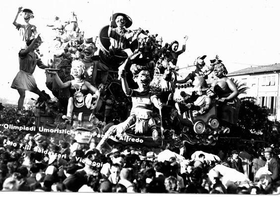 Olimpiadi umoristiche di Alfredo Pardini - Carri grandi - Carnevale di Viareggio 1950