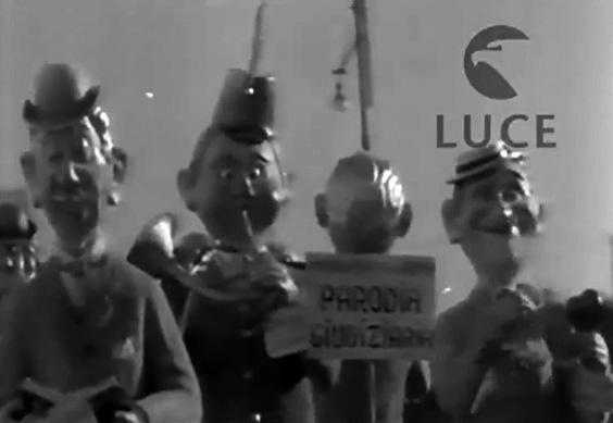 Parodia giudiziaria di Renato Galli - Mascherate di Gruppo - Carnevale di Viareggio 1950