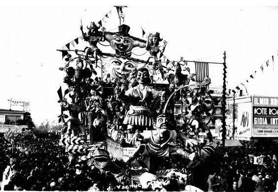 Pirateria sul Tirreno di Carlo Vannucci - Carri grandi - Carnevale di Viareggio 1950
