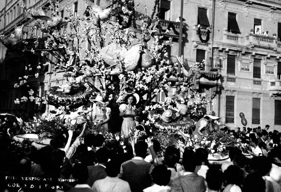 Risveglio di Primavera di  - Carri Fioriti - Carnevale di Viareggio 1950