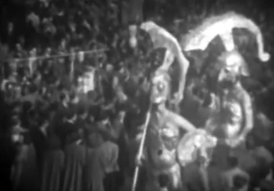 Ritorno da Troia di Davino Barsella - Mascherate di Gruppo - Carnevale di Viareggio 1950