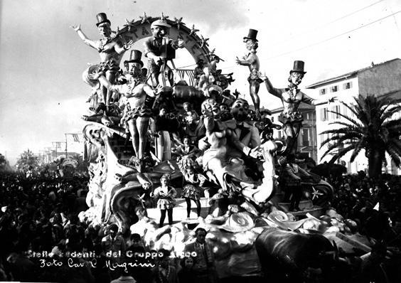 Stelle cadenti di Bar Alceo - Carri piccoli - Carnevale di Viareggio 1950
