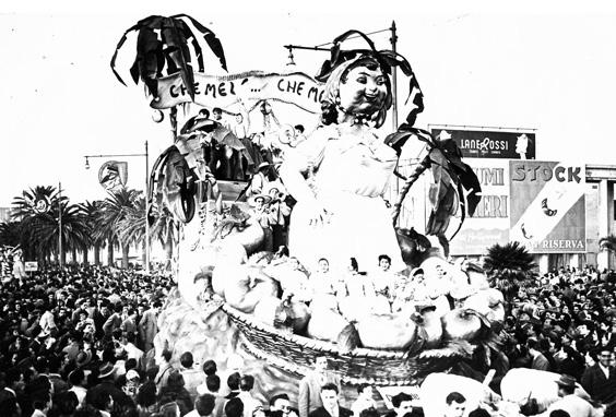 Che mele, che mele di Renato Santini, Arnaldo Galli e Orazio D'Arliano - Carri piccoli - Carnevale di Viareggio 1951