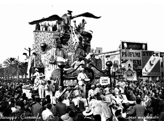 La cicogna distratta di Renato Santini, Arnaldo Galli, Orazio D'Arliano - Carri piccoli - Carnevale di Viareggio 1951
