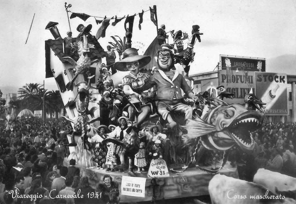 Loda lo mare ma tienti alla terra di Giuseppe Domenici, Giulio Palmerini - Carri piccoli - Carnevale di Viareggio 1951
